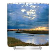 Evening Sky Over Hatches Harbor, Provincetown Shower Curtain