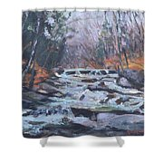 Evening Spillway Shower Curtain