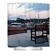 Evening Spring Tide In Mylor Bridge Shower Curtain