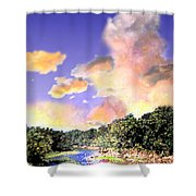 Evening Star Shower Curtain