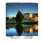 Evening Sun At Leeds Castle Shower Curtain