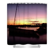 Evening Sun On Harbour Shower Curtain
