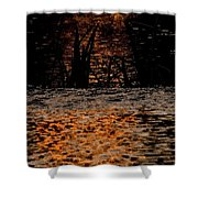 Evening Sun On Small River Shower Curtain