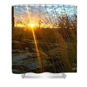Evening Sun Rays In The Desert Shower Curtain