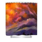 Evening Symphony Shower Curtain
