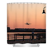 Evening Take Off Shower Curtain