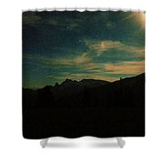 Evening Time In The Cascades Shower Curtain