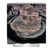 Evening Tones Horseshoe Bend Arizona Landscape  Shower Curtain