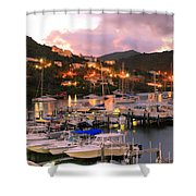 Evening Twilight At Oyster Pond, St. Martin Shower Curtain