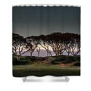 Dusk At Fort Fisher Shower Curtain