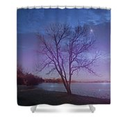 Evening Twinkles Shower Curtain
