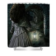 Evening Walk In Old Ruins Shower Curtain