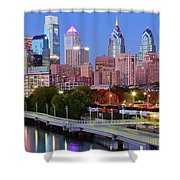 Evening Walk In Philly Shower Curtain