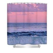 Evening Waves 2 - Jersey Shore Shower Curtain