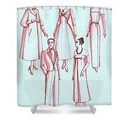 Evening Wear, 1956 Shower Curtain