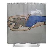 Evening Wear Fashion Sketch Shower Curtain