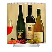 Evening Wine Display Shower Curtain