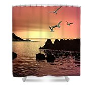 Evening's End Shower Curtain