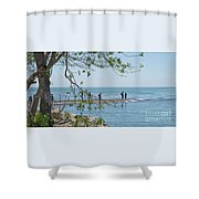 Ever-changing Pelee Shower Curtain