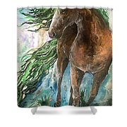Ever Green  Earth Horse Shower Curtain