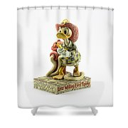 Ever Willing Ever Ready Shower Curtain
