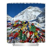 Everest Base Camp Shower Curtain