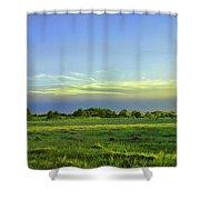 Everglades Panorama  Shower Curtain