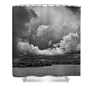 Everglades 0257bw Shower Curtain