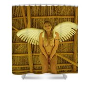 Everglades Angel Shower Curtain