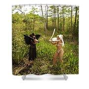 Everglades City Glamour 146 Shower Curtain
