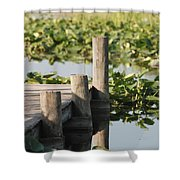 Everglades Pier Shower Curtain