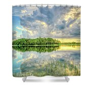 Everglades Sunset Shower Curtain