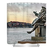 Evert Taube - Stockholm Shower Curtain
