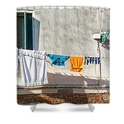 Everyday Life In Venice Shower Curtain