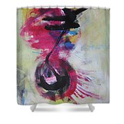 Everything A Mistake-abstract Red Painting Shower Curtain
