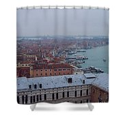 Everything Travels By Boat To Venice Shower Curtain