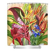 Everywhere There Were Flowers Shower Curtain