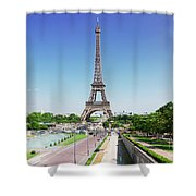 Eviffel Tower With Fountains Shower Curtain