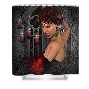 Evil Beauty Shower Curtain