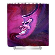 Evil Carnival Jester Mask Shower Curtain