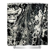 Evil In Black And White Shower Curtain