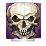 Evil Skull Shower Curtain