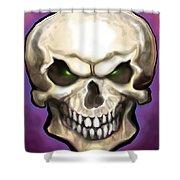 Evil Skull Shower Curtain