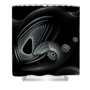 Evincing Insatiability Shower Curtain