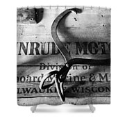Evinrude Motors Crate Circa 1940s Shower Curtain