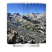 Evolution Lake And Valley Panorama From Darwin Bench - Sierra Shower Curtain