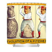 Evolution Of A Pitcher Shower Curtain