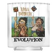 Evolution Poster Shower Curtain