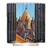 Evora's Cathedral Tower Shower Curtain