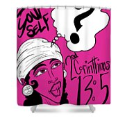 Examine Yourself-woman Shower Curtain